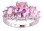 Vakker ring med rosa stener